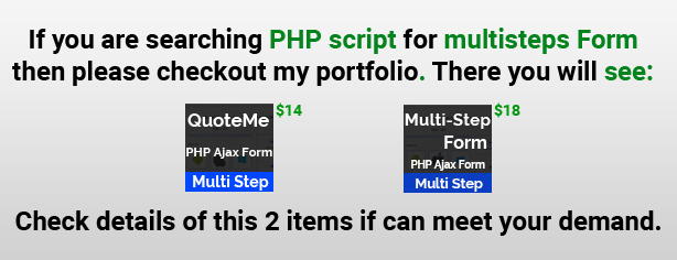 More PHP form Items