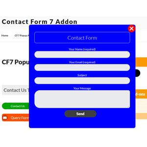 CF7 Popup Form