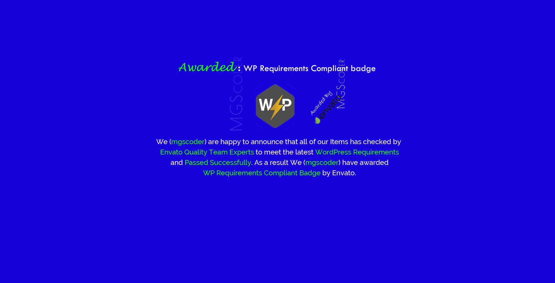 MGScoder WordPress Plugins